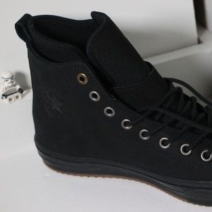 Converse Shoes - Black Leather Waterproof Converse All Star Boots